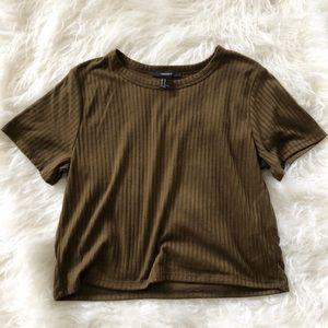 Forever 21 / Army Green Ribbed T-shirt